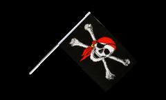 Bandiera da asta Pirata con bandana - 60 x 90 cm