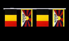 Cordata dell'amicizia Belgio - Tibet - 15 x 22 cm