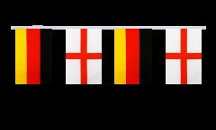 Cordata dell'amicizia Germania - Inghilterra - 15 x 22 cm