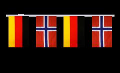 Cordata dell'amicizia Germania - Norvegia - 15 x 22 cm