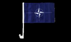 Bandiera per auto NATO - 30 x 40 cm