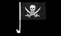 Bandiera per auto Pirata con due spade - 30 x 40 cm