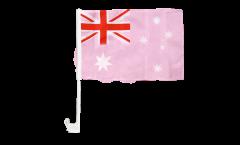 Bandiera per auto Australia Rosa - 30 x 40 cm
