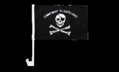 Bandiera per auto Pirata Commitment to excellence - 30 x 40 cm