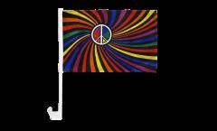 Bandiera per auto Arcobaleno Peace Swirl - 30 x 40 cm