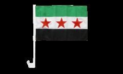 Bandiera per auto Siria 1932-1963 / Opposizione - Esercito Siriano Libero - 30 x 40 cm