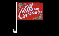 Bandiera per auto Merry Christmas - 30 x 40 cm