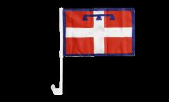 Bandiera per auto Italia Piemonte - 30 x 40 cm