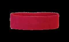 Fascia antisudore Unicolore Rossa - 6 x 21 cm