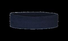 Fascia antisudore Unicolore Nera - 6 x 21 cm
