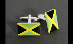 Gemelli Bandiera Giamaica - 18 x 12 mm