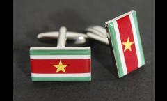 Gemelli Bandiera Suriname - 18 x 12 mm