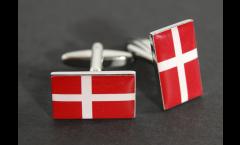 Gemelli Bandiera Danimarca - 18 x 12 mm