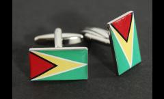Gemelli Bandiera Guyana - 18 x 12 mm