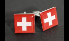 Gemelli Bandiera Svizzera - 18 x 12 mm