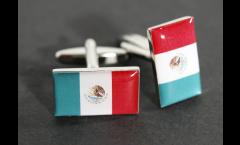 Gemelli Bandiera Messico - 18 x 12 mm