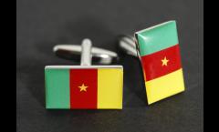 Gemelli Bandiera Camerun - 18 x 12 mm