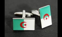 Gemelli Bandiera Algeria - 18 x 12 mm