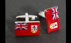 Gemelli Bandiera Bermudas - 18 x 12 mm