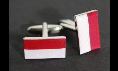 Gemelli Bandiera Principato di Monaco - 18 x 12 mm