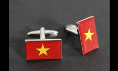 Gemelli Bandiera Vietnam - 18 x 12 mm