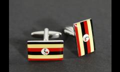Gemelli Bandiera Uganda - 18 x 12 mm