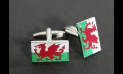 Gemelli Bandiera Galles - 18 x 12 mm