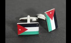 Gemelli Bandiera Giordania - 18 x 12 mm