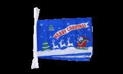 Cordata Merry Christmas Babbo Natale blu - 30 x 45 cm