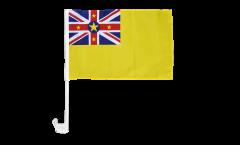 Bandiera per auto Niue - 30 x 40 cm