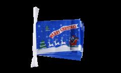 Cordata Merry Christmas Babbo Natale blu - 15 x 22 cm