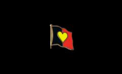 Spilla Bandiera Bandiera cuore Belgio - 2 x 2 cm