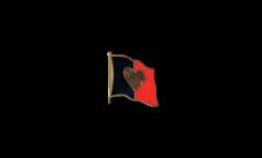 Spilla Bandiera Bandiera cuore Belgio 2 - 2 x 2 cm