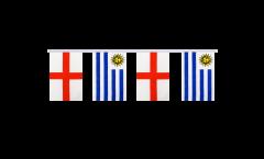 Cordata dell'amicizia Inghilterra - Uruguay - 15 x 22 cm