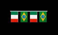 Cordata dell'amicizia Italia - Brasile - 15 x 22 cm