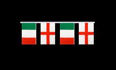 Cordata dell'amicizia Italia - Inghilterra - 15 x 22 cm