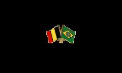 Spilla dell'amicizia Belgio - Brasile - 22 mm
