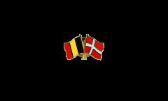 Spilla dell'amicizia Belgio - Danimarca - 22 mm