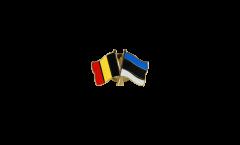 Spilla dell'amicizia Belgio - Estonia - 22 mm