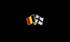 Spilla dell'amicizia Belgio - Finlandia - 22 mm