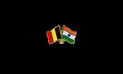 Spilla dell'amicizia Belgio - India - 22 mm