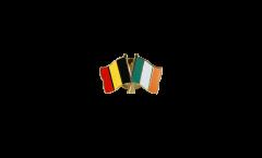 Spilla dell'amicizia Belgio - Irlanda - 22 mm