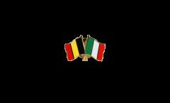 Spilla dell'amicizia Belgio - Italia - 22 mm
