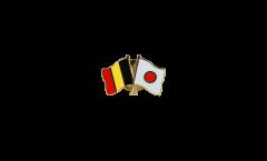 Spilla dell'amicizia Belgio - Giappone - 22 mm
