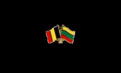Spilla dell'amicizia Belgio - Lituania - 22 mm