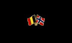 Spilla dell'amicizia Belgio - Norvegia - 22 mm