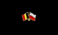 Spilla dell'amicizia Belgio - Polonia - 22 mm