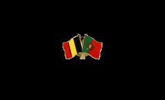 Spilla dell'amicizia Belgio - Portogallo - 22 mm