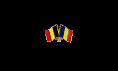 Spilla dell'amicizia Belgio - Romania - 22 mm