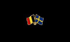 Spilla dell'amicizia Belgio - Svezia - 22 mm
